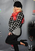 Christina Aguilera - NBC's The Voice Season 3 event in West Hollywood 11/08/12