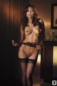 Raquel Pomplun In Black Stockings