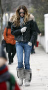 Elle MacPherson school run in West London 06-12-2010