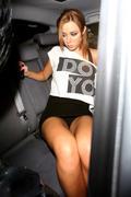 Una Healy upskirt leaving Mayfair Members Club in London - Jul 30, mixed sizes, tags