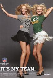 "Kym Johnson and Peta Murgatroyd - leggy NFL ""It's My Team"" ad"